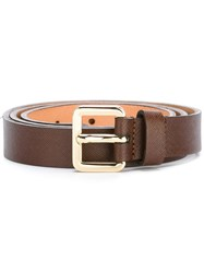 Lardini Gold Tone Buckle Belt Brown