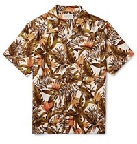 Neighborhood Camp Coar Printed Cotton Shirt Cream