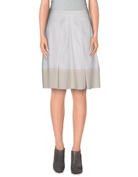 Rebecca Taylor Knee Length Skirts White