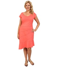 Fresh Produce Plus Size Sunburst Dress Red Coral Women's Dress