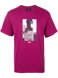 Stussy 'For The Masses' T Shirt Pink And Purple