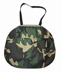 Vintage Army Camouflage Canvas Bag With Velcro By Vintagemensgoods
