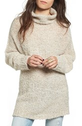 Free People Women's 'She's All That' Knit Turtleneck Sweater Ivory