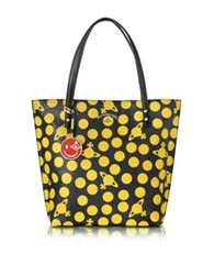 Vivienne Westwood Dotmania Leather Tote Bag Yellow Black