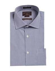 Black Brown Non Iron Classic Fit Egyptian Cotton Pinchecked Dress Shirt Purple