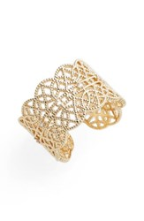 Jules Smith Designs Women's Pave Lace Cuff Ring