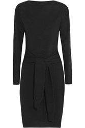 Maison Martin Margiela Tie Front Wool Dress Black