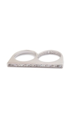 Eddie Borgo Two Finger Color Ring Silver White