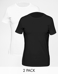 Asos Longline T Shirt With Crew Neck And Relaxed Skater Fit 2 Pack Save 17 Whiteblack