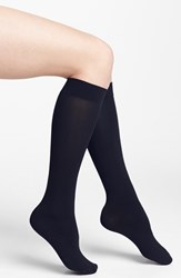 Women's Dkny Opaque Microfiber Knee Highs Blue 2 For 15 Navy