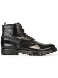 Officine Creative 'Komma' Lace Up Boots Black