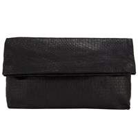 John Lewis Collection Weekend By Mia Leather Clutch Bag Black
