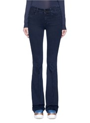 Stella Mccartney Flared Leg Cotton Denim Pants Blue