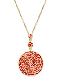 Charter Club Erwin Pearl Atelier For Gold Tone Colored Spiral Necklace Only At Macy's Orange