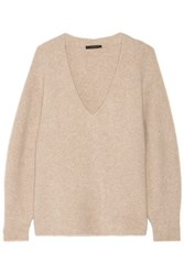 The Row Babbie Oversized Cashmere Blend Sweater Beige