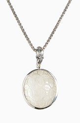 Stephen Dweck Women's Flower Carved Mother Of Pearl Pendant Necklace