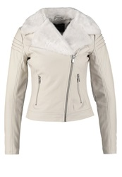 Dorothy Perkins Faux Leather Jacket White