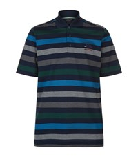 Paul And Shark Multi Stripe Polo Shirt Male Navy