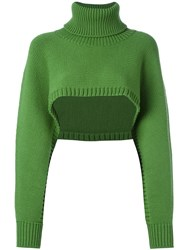 I'm Isola Marras Cropped Jumper Green