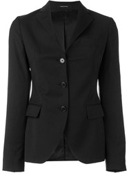 Tagliatore Fitted Blazer Black