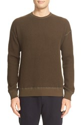 Wings Horns Men's Wing Crewneck Sweater Olive