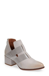Sixtyseven 'Alice' Pointy Toe Leather Ankle Bootie Women Grey