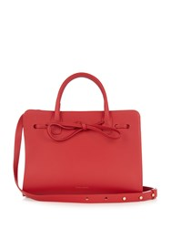 Mansur Gavriel Mini Sun Leather Tote Red