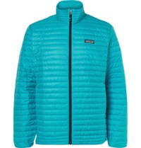 Patagonia Quilted Shell Down Jacket Turquoise