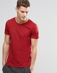 Boss Orange T Shirt With Crew Neck In Red Red