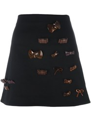 J.W.Anderson Bow Applique Skirt Black