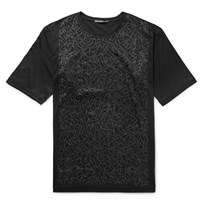 Issey Miyake Slim Fit Printed Cotton Jersey T Shirt Black