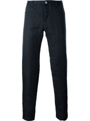 Individual Sentiments Woven Straight Leg Trousers Black
