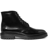 Burberry Polished Leather Boots Black