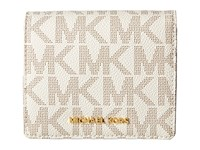 Michael Michael Kors Jet Set Travel Carryall Card Case Vanilla Credit Card Wallet Bone