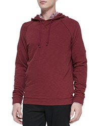 Vince Jersey Flame Pullover Hoodie Red