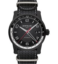 Montblanc 113828 Timewalker Urban Speed E Strap Leather And Stainless Steel Watch Black
