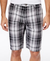Inc International Concepts Men's Eddie Plaid Shorts Only At Macy's Silver Stream