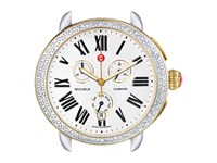 Michele Serein Diamond Two Tone Silver Gold Watch Head Two Tone Silver Gold Watches Multi