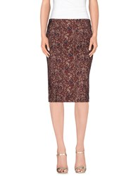 Attic And Barn Attic And Barn Skirts Knee Length Skirts Women Cocoa