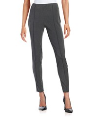 Vince Camuto Ponte Side Zip Leggings Dark Heather Grey