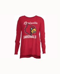 Royce Apparel Inc Women's Louisville Cardinals Noelle Long Sleeve T Shirt Red