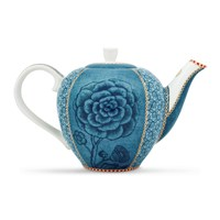 Pip Studio Spring To Life Teapot Blue Small