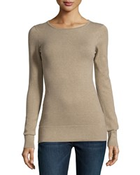 Minnie Rose Essential Long Sleeve Boat Neck Top Cargo