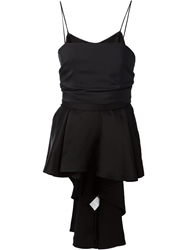 The Row Knotted Back Tank Top Black