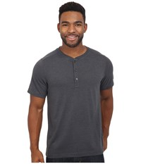 The North Face Short Sleeve Crag Henley Tnf Dark Grey Heather Men's Clothing Gray
