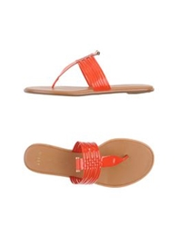 Aerin Thong Sandals Red