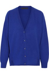 Alexander Wang Wool And Cashmere Blend Cardigan Royal Blue