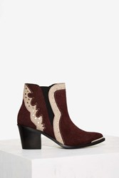 Nasty Gal Python Outta Ten Suede Ankle Boot