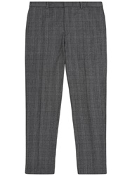 Jaeger Prince Of Wales Check Slim Fit Suit Trousers Grey