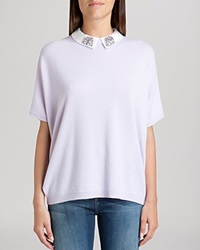Ted Baker Sweater Ulsey Embellished Collar Cashmere Light Purple